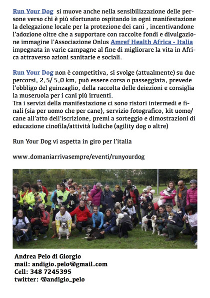 Run Your Dog - presentazione pag.2